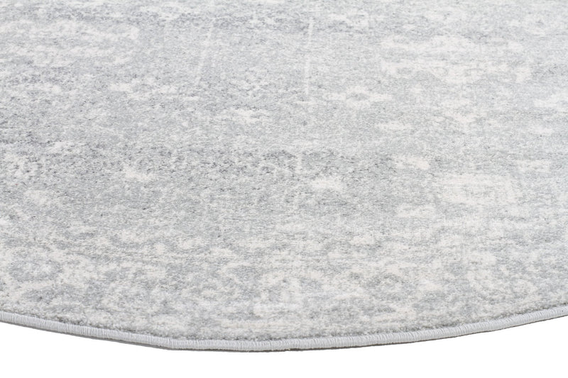 Esme Shine Silver Transitional Round Rug
