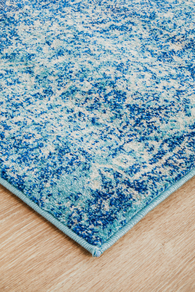 Esme Muse Blue Transitional Runner Rug