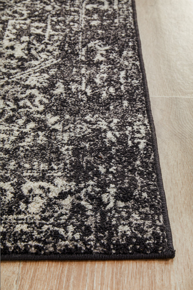 Esme Scape Charcoal Transitional Runner Rug