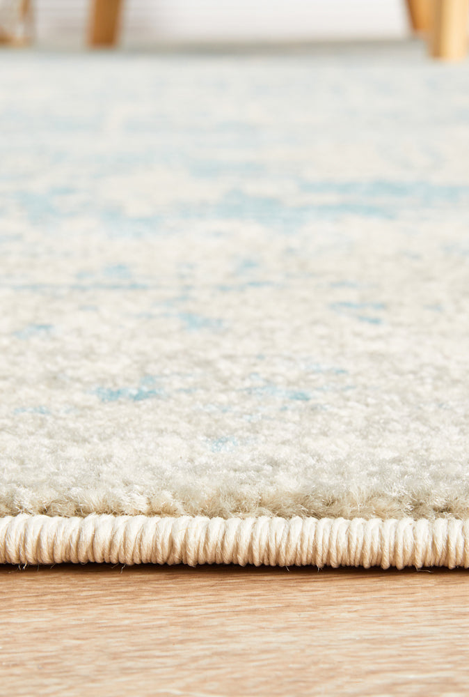 Esme Glacier White Blue Transitional Rug