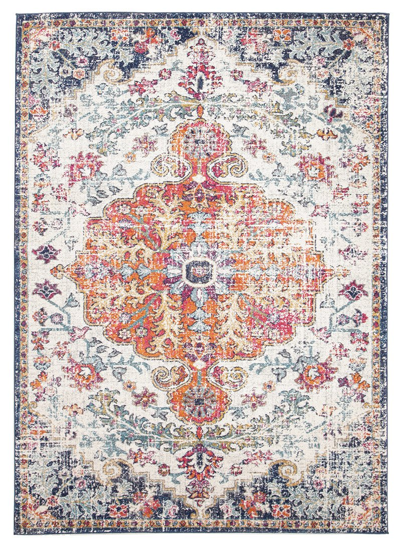 Esme Carnival White Transitional Rug