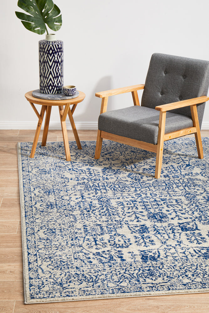 Esme Frost Blue Transitional Rug