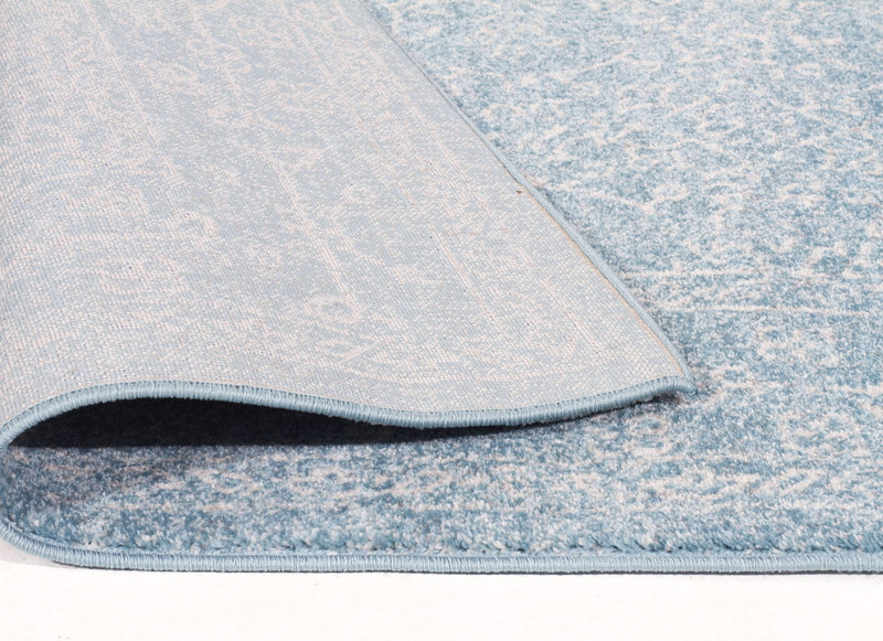 Esme Depth Blue Transitional Runner Rug