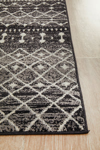 Esme Simplicity Black Transitional Runner Rug