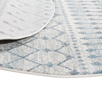 Esme Slate White Transitional Round Rug