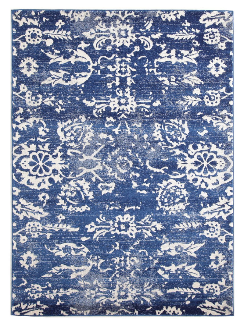 Esme Blossom Navy Transitional Rug