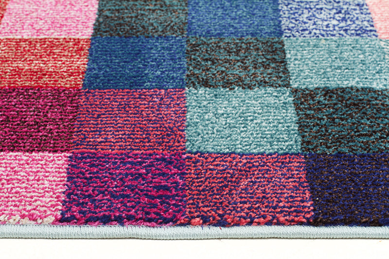Pixel Modern Multi Coloured Rug