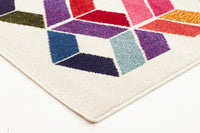Gemini Modern 508 Multi Coloured Runner Rug - aladdinrugs - 3