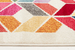 Gemini Modern 508 Multi Coloured Runner Rug - aladdinrugs - 4