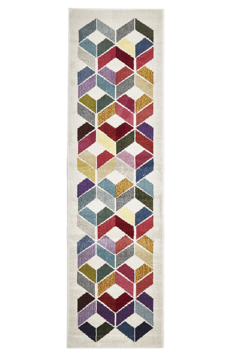 Gemini Modern 508 Multi Coloured Runner Rug - aladdinrugs - 2
