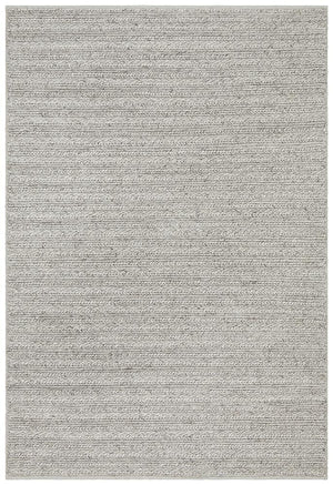 Aamani Handwoven  Silver Rug