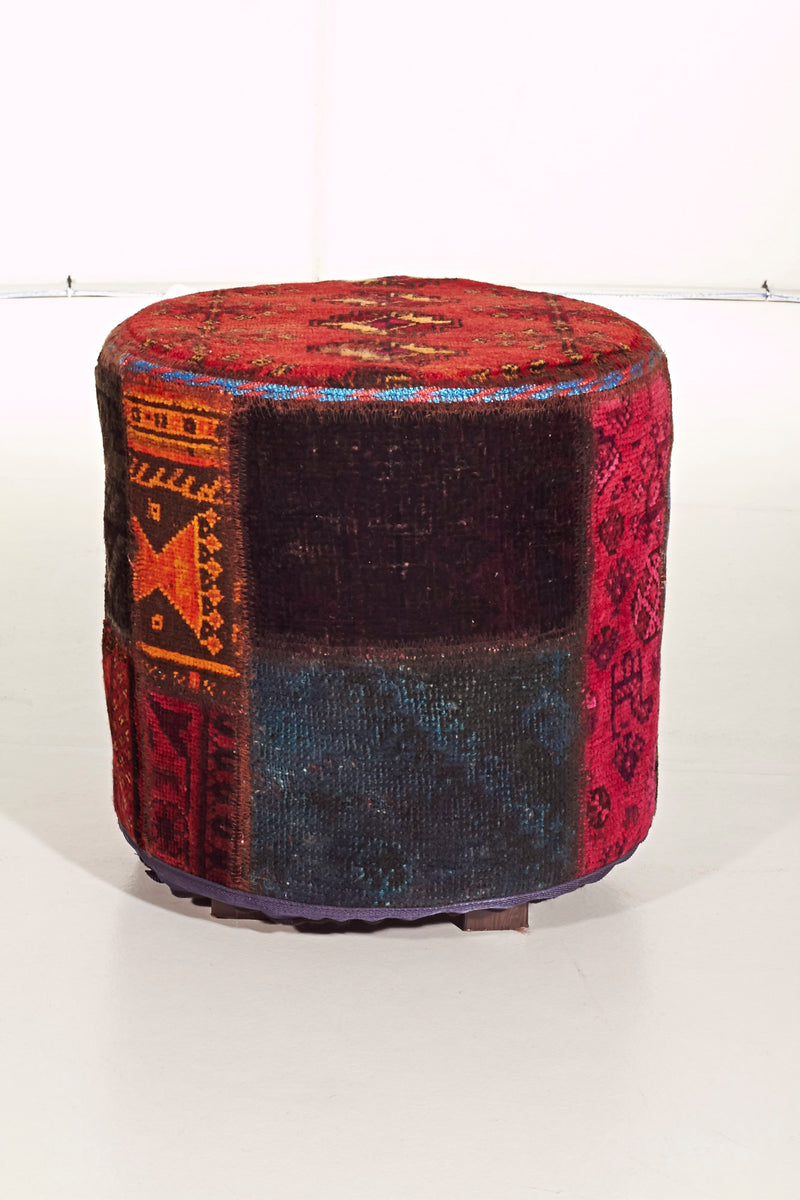 Persian Rug Ottoman -PatchWork