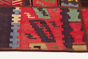 HANDMADE PERSIAN K PATCH WORK kILIM-210X150 CM