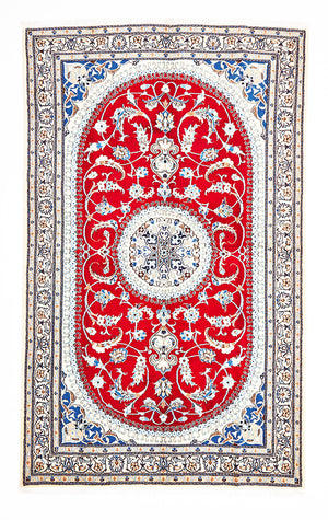 HAND KNOTTED PERSIAN RUG NAEIN 235 X156 CM