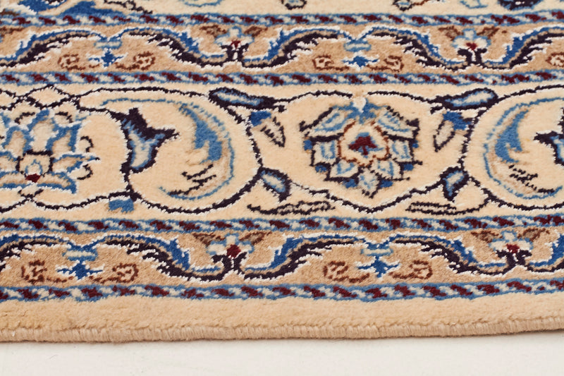 HAND KNOTTED PERSIAN NAIN RUG SIZE 159 X 145 CM