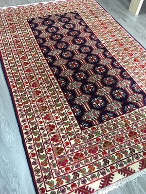 HAND KNOTTED PERSIAN TORKAMAN RUG 208X130 CM