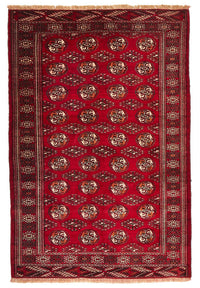 HAND KNOTTED RED ORIENTAL RUG 193 X130 CM