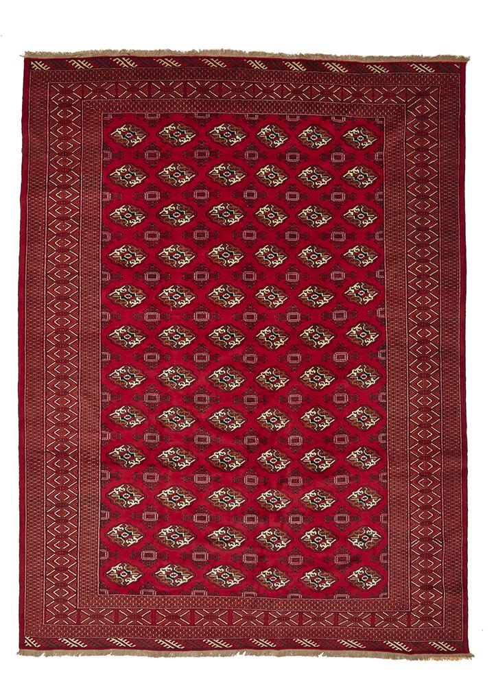 HAND KNOTTED PERSIAN  RUG Turkmen 378X280 CM
