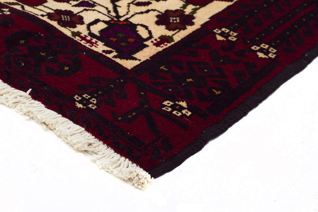 HAND KNOTTED PERSIAN FINE BALUCH RUG 200X100 CM