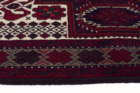 HAND KNOTTED PERSIAN FINE BALUCH RUG 190X105CM