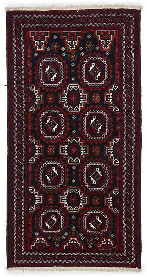 HAND KNOTTED PERSIAN FINE BALUCH RUG 195X100 CM