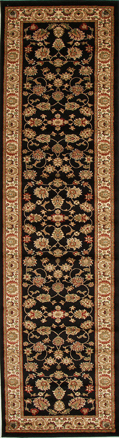 Istanbul Traditional Floral Pattern Rug Black - aladdinrugs - 4