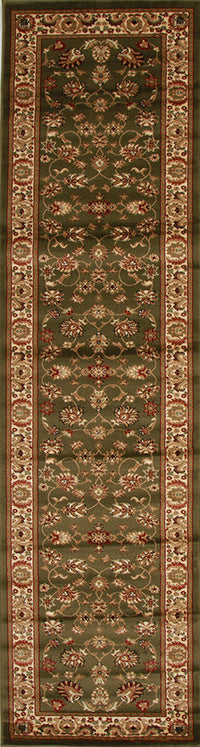 Istanbul Traditional Floral Pattern Rug Green - aladdinrugs - 4