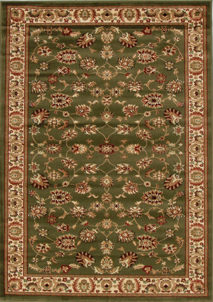 Istanbul Traditional Floral Pattern Rug Green - aladdinrugs - 1