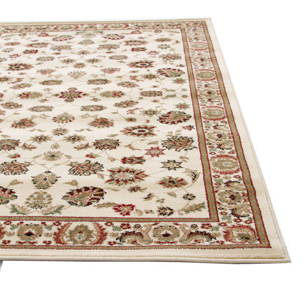 Istanbul Traditional Floral Pattern Rug Ivory - aladdinrugs - 2