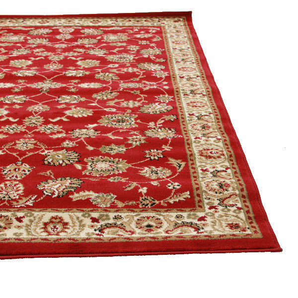 Istanbul Traditional Floral Pattern Rug Red - aladdinrugs - 2