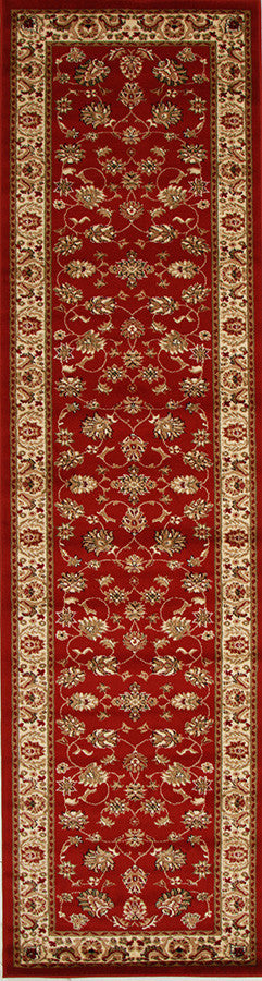 Istanbul Traditional Floral Pattern Rug Red - aladdinrugs - 4