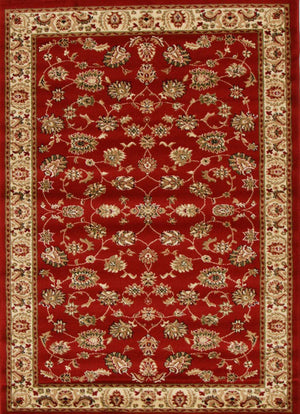 Istanbul Traditional Floral Pattern Rug Red - aladdinrugs - 1