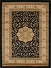 Istanbul Medallion Classic Pattern Rug Black - aladdinrugs - 1