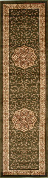 Istanbul Medallion Classic Pattern Rug Green - aladdinrugs - 4