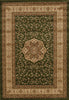 Istanbul Medallion Classic Pattern Rug Green - aladdinrugs - 1