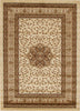 Istanbul Medallion Classic Pattern Rug Ivory - aladdinrugs - 1