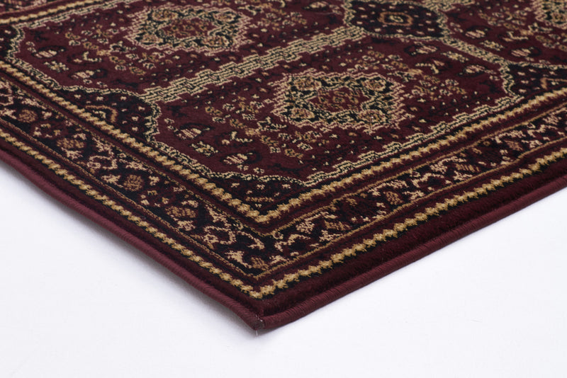 Istanbul Traditional Afghan Design Rug Burgundy Red - aladdinrugs - 2