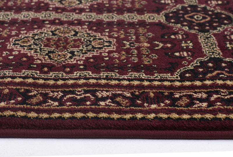 Istanbul Traditional Afghan Design Rug Burgundy Red - aladdinrugs - 3