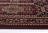 Istanbul Traditional Afghan Design Rug Burgundy Red - aladdinrugs - 5