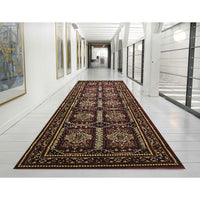 Istanbul Traditional Afghan Design Rug Burgundy Red - aladdinrugs - 4
