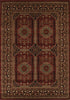 Istanbul Traditional Afghan Design Rug Burgundy Red - aladdinrugs - 1
