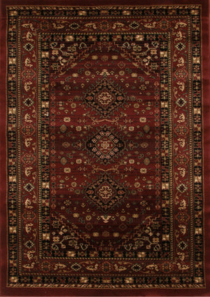 Istanbul Traditional Shiraz Design Rug Burgundy Red - aladdinrugs - 1