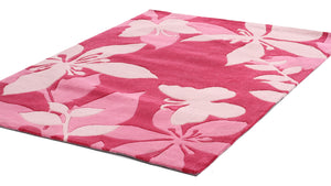Cute Pink Flower and Butterfly Design Rug - aladdinrugs - 3