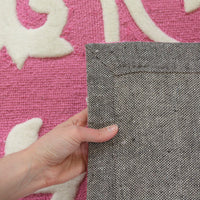 Stunning Pink and White Design Rug - aladdinrugs - 6