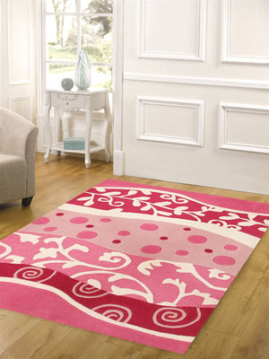Stunning Pink and White Design Rug - aladdinrugs - 3