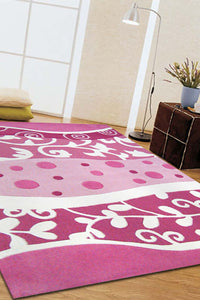 Stunning Pink and White Design Rug - aladdinrugs - 2