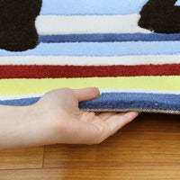 Funky Striped Kids Rug Bright Colours