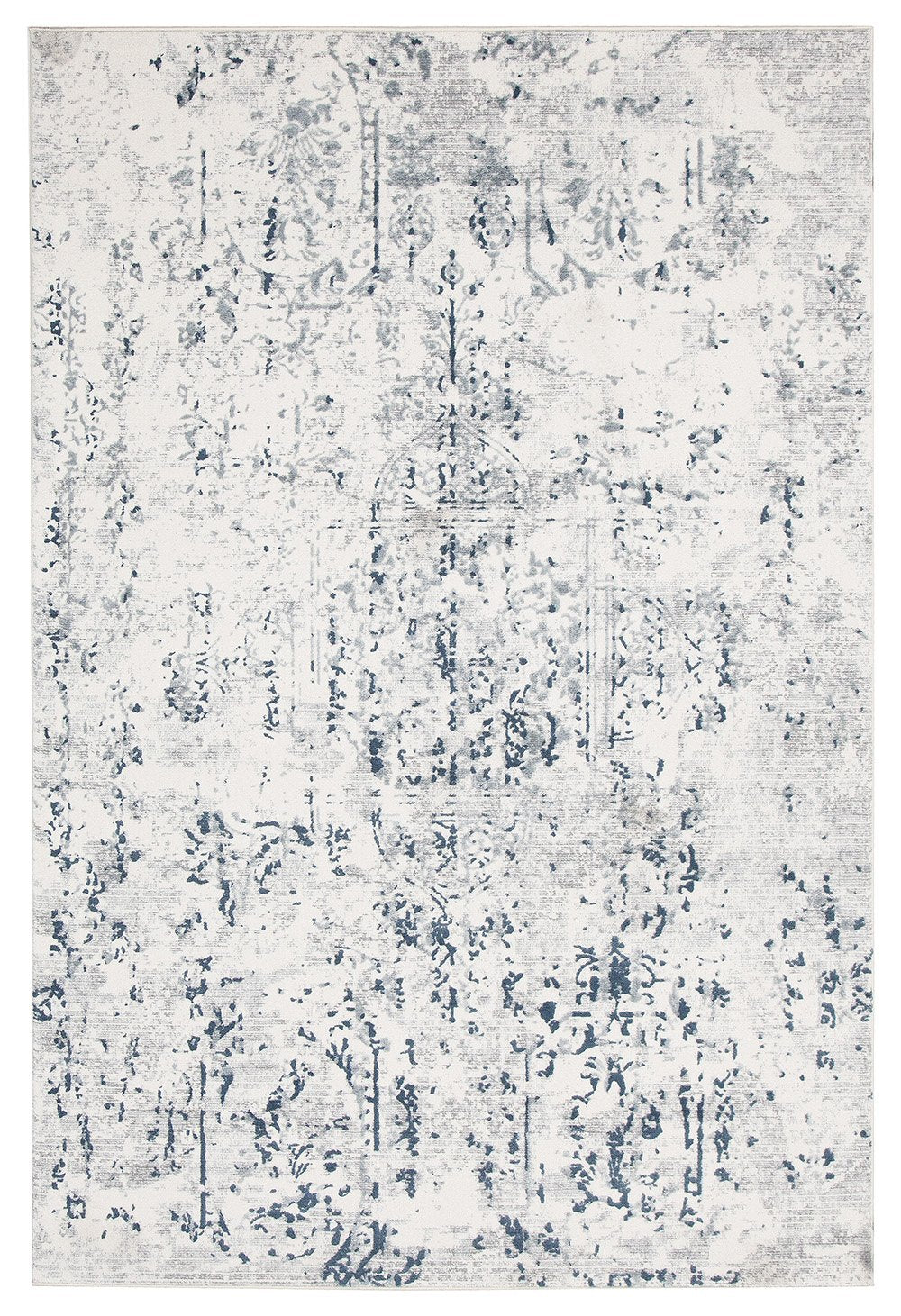 Picture of: Farah Distressed Contemporary Rug White Blue Grey Aladdin Rugs Nz