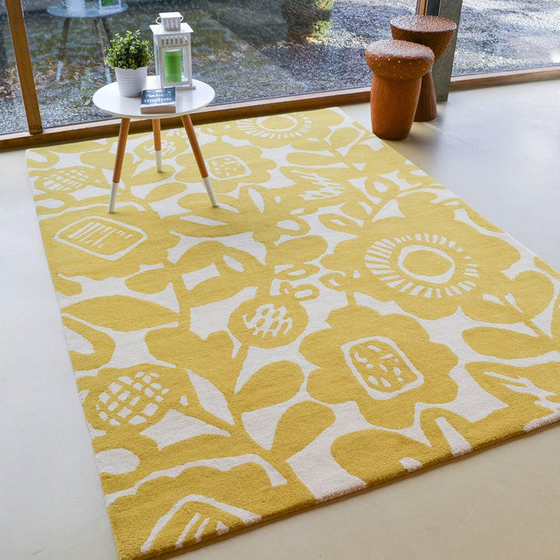 Scion kukkia rugs 24506 in honey