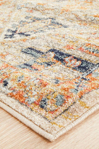 Artin Power Loomed Rust Runner Rug